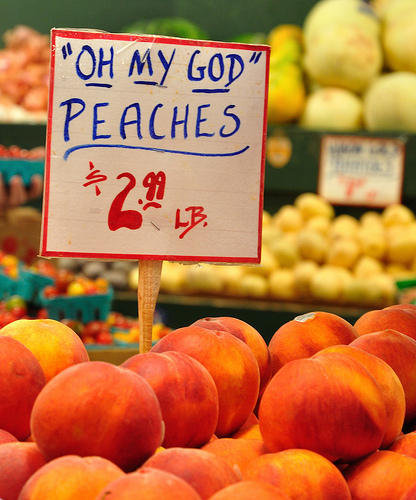 oh my god peaches pike market seattle