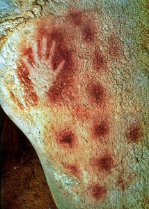Chauvet Cave hand  and dots